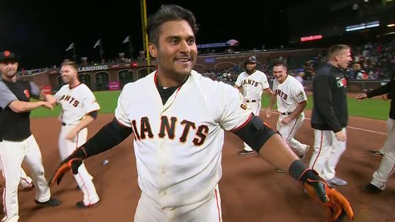 Solano slaps walk-off single for Giants in 16th