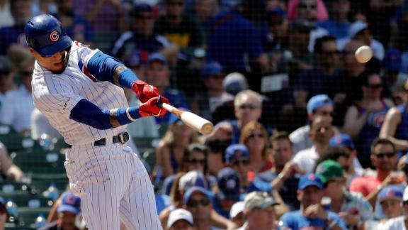 Báez's 3-run HR puts Cubs in front