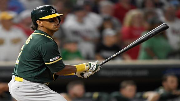 Davis hits go-ahead RBI single for Athletics
