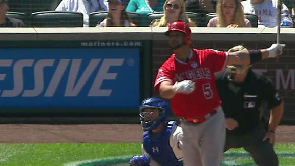 Pujols jacks one to put Angels on the board