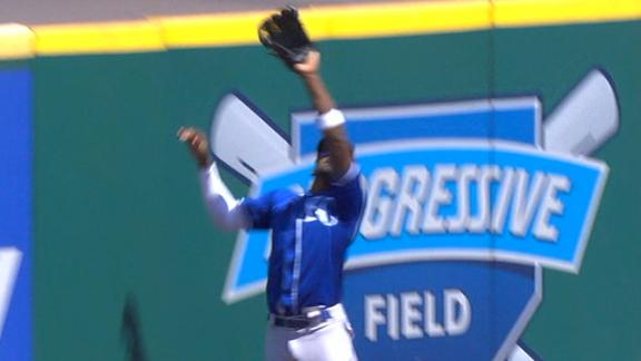 Soler leaps for home run robbery