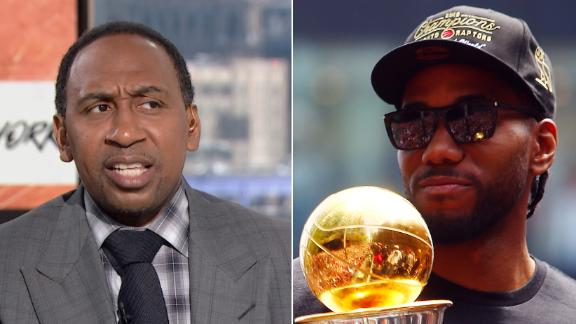 Stephen A. questions Kawhi's uncle in trade to Clippers