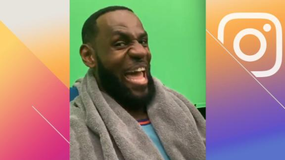 LeBron celebrates Taco Tuesday from Space Jam 2 set