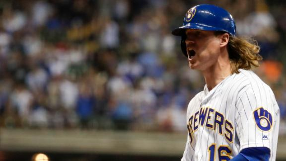 Brewers win on Gamel's 2-RBI single
