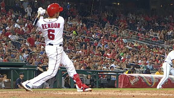 Rendon breaks tie with grand slam