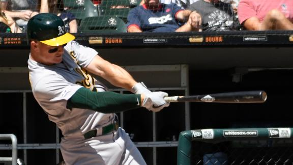 Athletics club 3 homers in win over White Sox