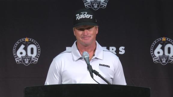 Gruden: We support AB's helmet issue, foot injury
