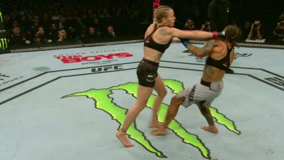 Shevchenko drops Carmouche in the third