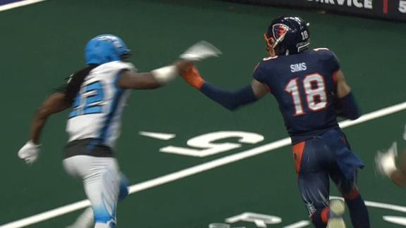 Sims stiff-arms for his third TD - ESPN Video - ESPN Soccernet