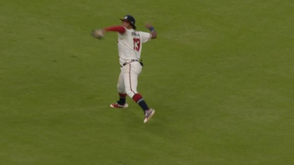 Acuna throws out Frazier at the plate