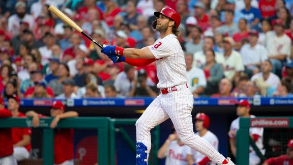 Harper crushes 2 homers in Phillies' blowout win