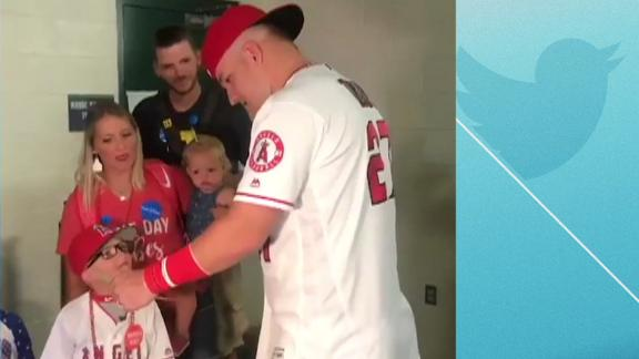 Trout provides youngster with a moment he'll never forget