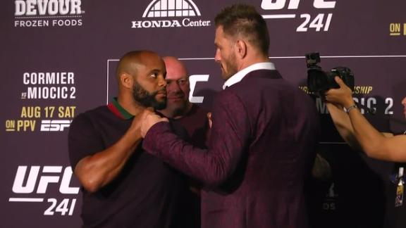 Cormier, Miocic face off at media day
