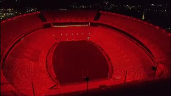 Alabama shows off capabilities of new stadium lights