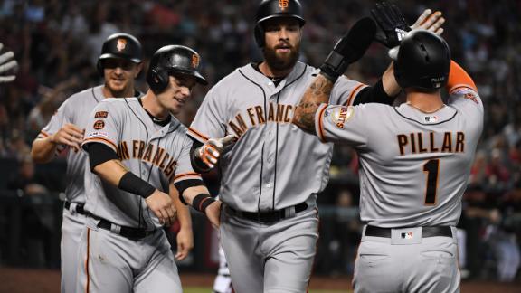 Belt's grand slam, 6 RBIs lead Giants over D-backs