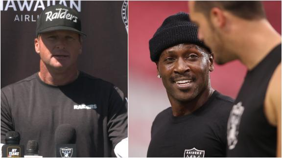 Gruden, Carr compliment Brown's knowledge of Raiders' offense