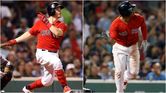 Holt, Devers go deep in win vs. Orioles