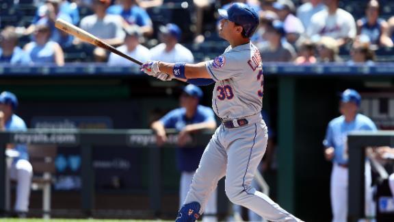 Conforto hits tape-measure home run