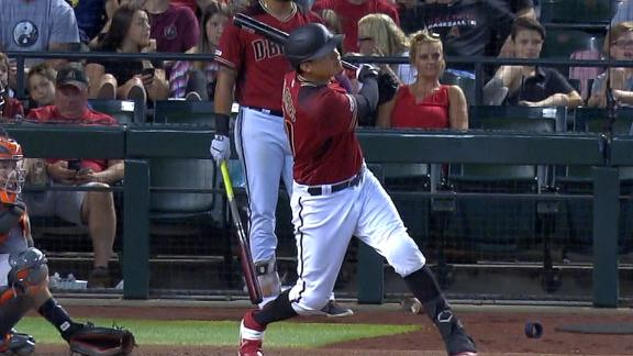 D-backs rip 2 homers in win vs. Giants
