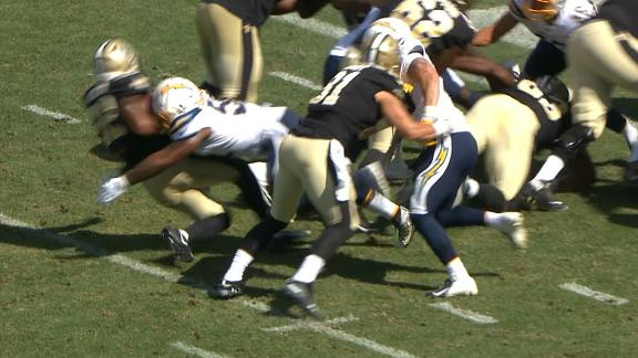Perryman hit sticks runner to force fumble