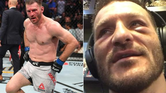 Stipe regrets dancing after Cormier KO