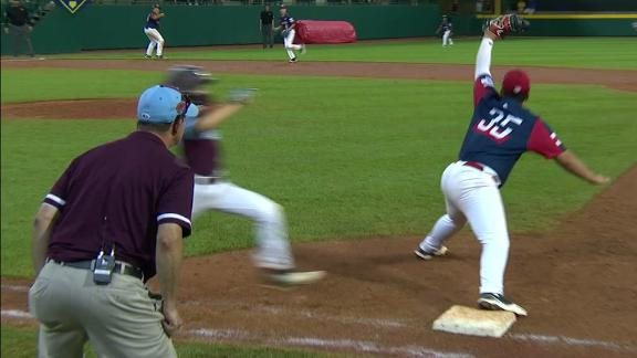Escobar makes backhanded play to end game