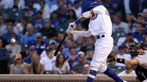Cubs outduel Giants in home run battle