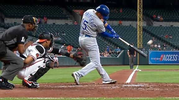 Merrifield's homer gives O's an unwanted record