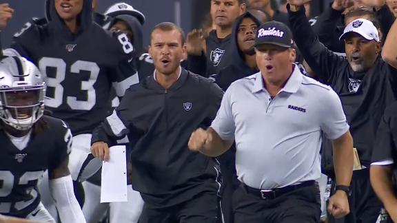 Gruden ecstatic after Raiders' winning FG