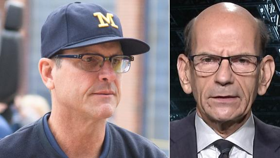 Finebaum: It's all about beating Ohio State for Harbaugh