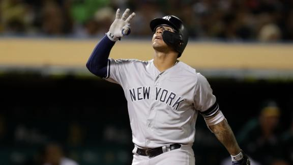 Torres homers twice, makes Yankees history