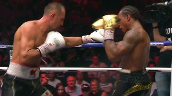 Kovalev backs Yarde into corner with punches
