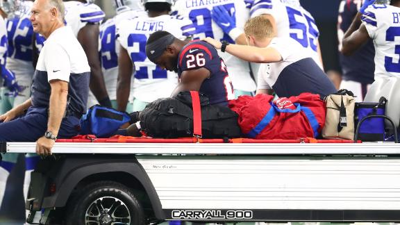 Miller carted off with an injury