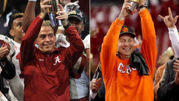 The numbers prove Alabama and Clemson's dominance