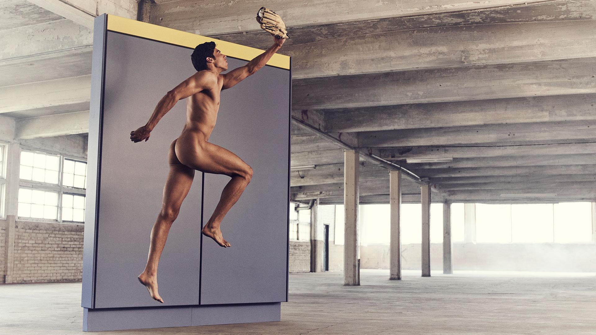 Behind the scenes of Christian Yelich's Body Issue shoot