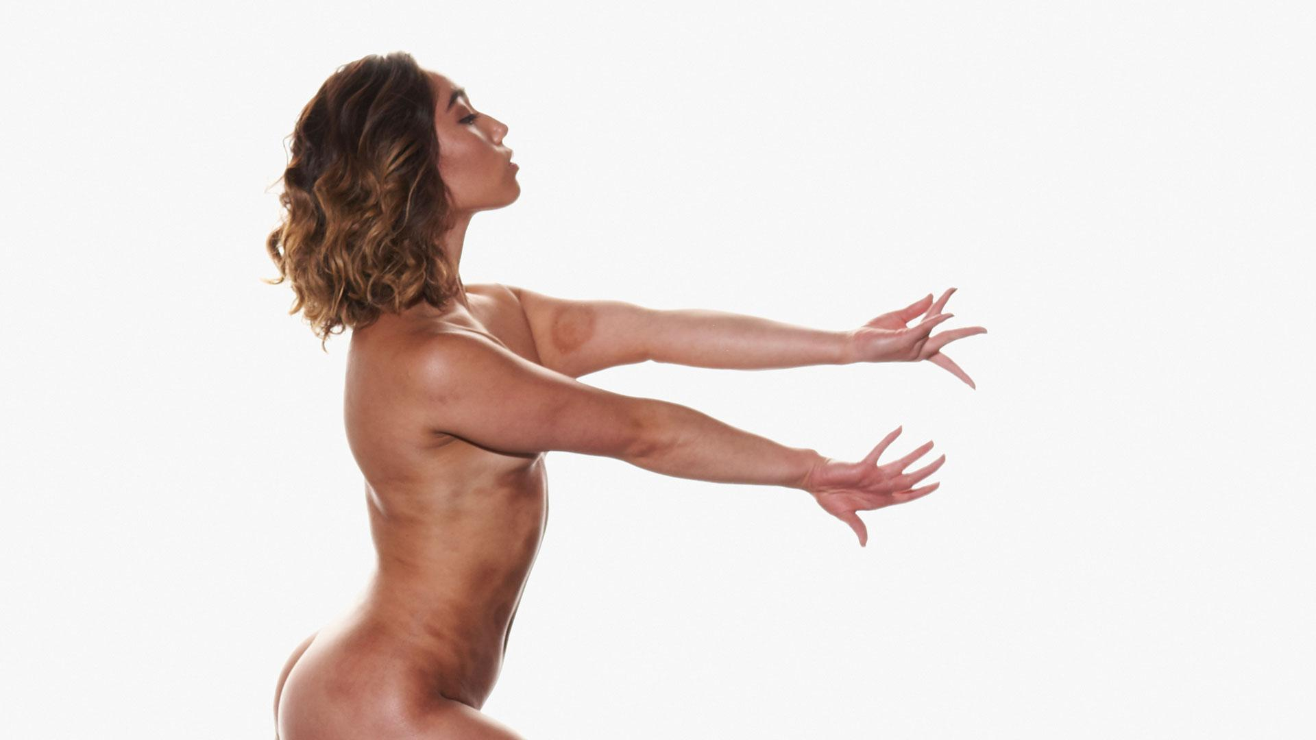 Behind the scenes of Katelyn Ohashi's Body Issue shoot