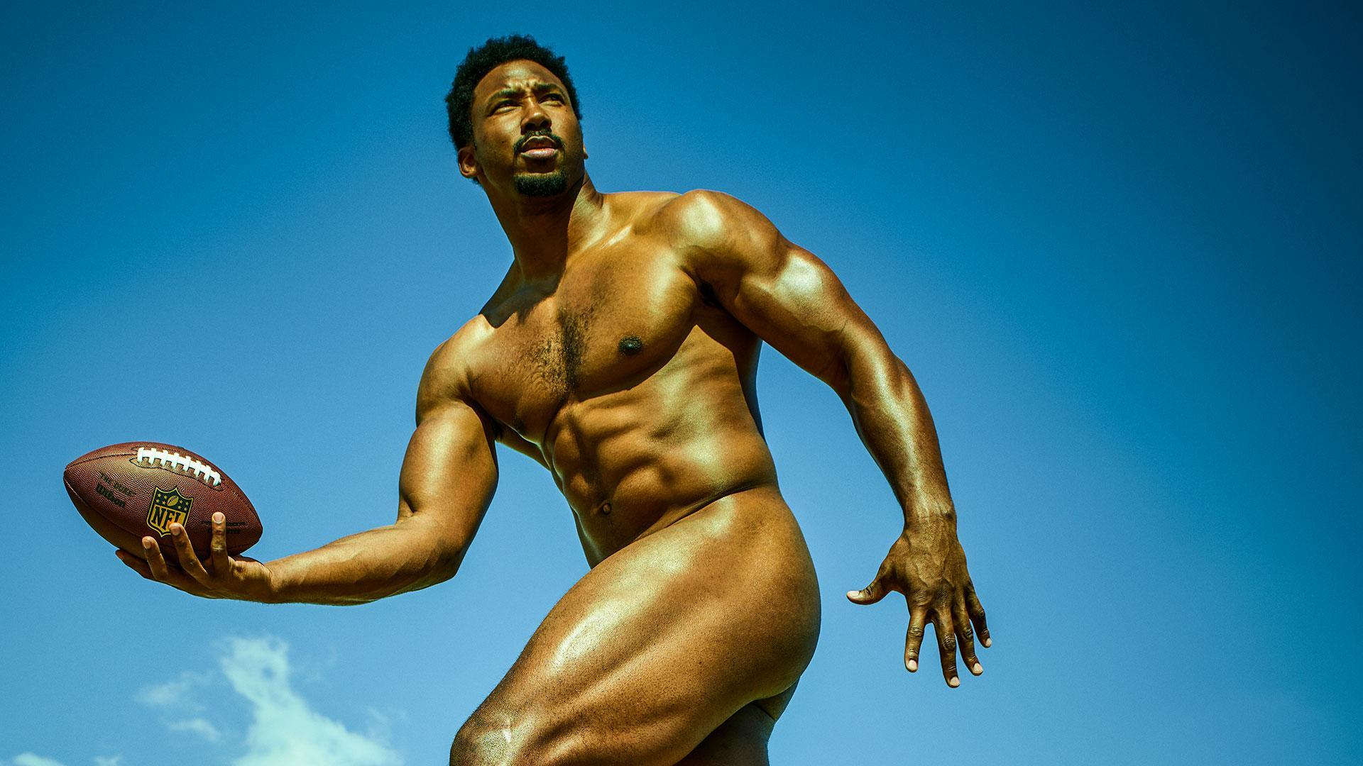 Behind the scenes of Myles Garrett's Body Issue shoot