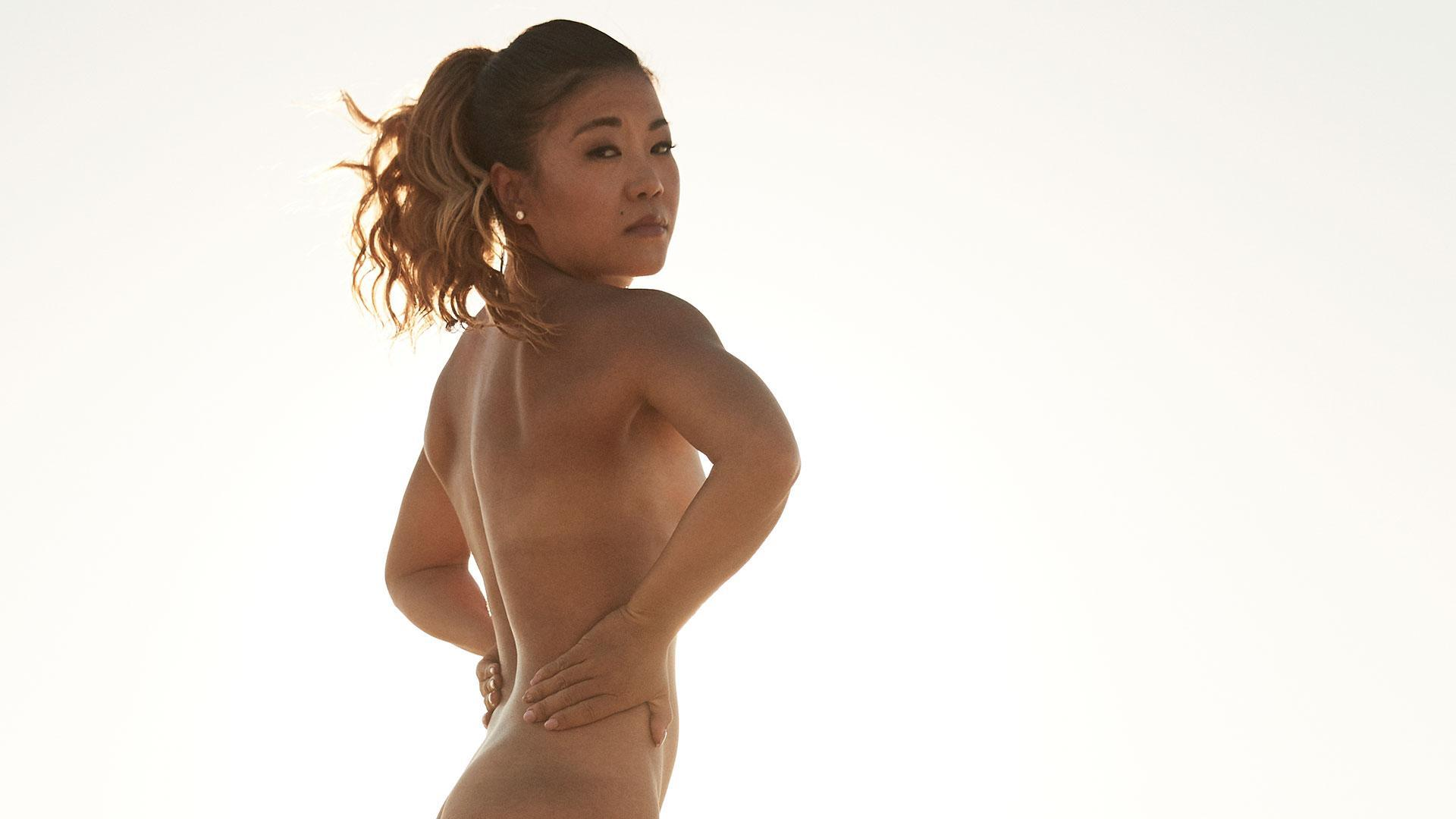Behind the scenes of Scout Bassett's Body Issue shoot