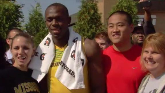 Usain Bolt's day of speed at ESPN