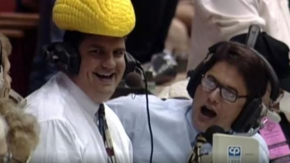 Mike Golic wore a corncob hat for an Arena Football game