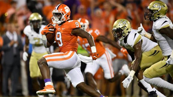 Etienne ignites Clemson in rout of Georgia Tech