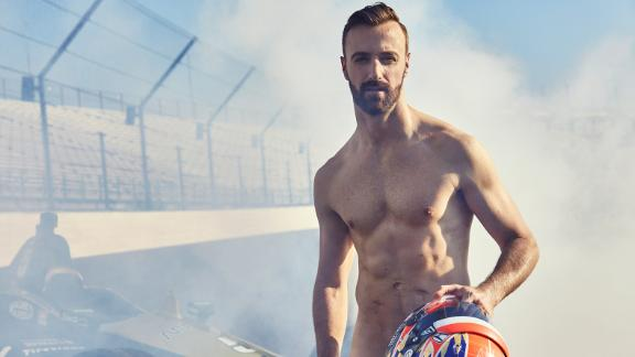 Behind the scenes of James Hinchcliffe's Body Issue shoot