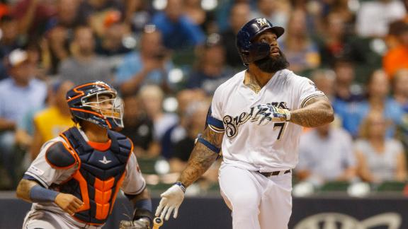 Thames puts Brewers up with 3-run HR