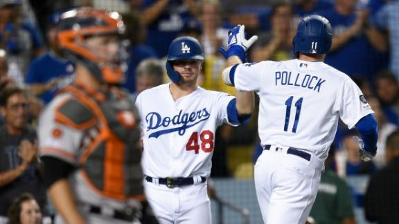 Pollock homers three times in Dodgers' loss