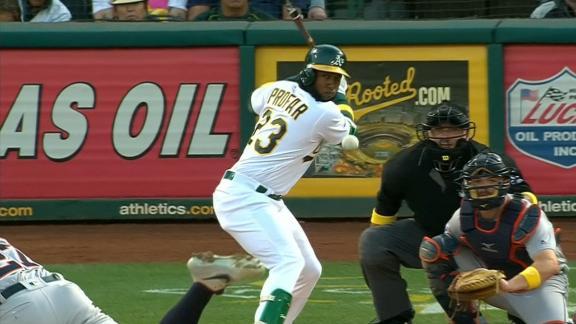 Profar hits solo home run to right