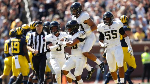 Army recovers 3 Michigan first-half fumbles