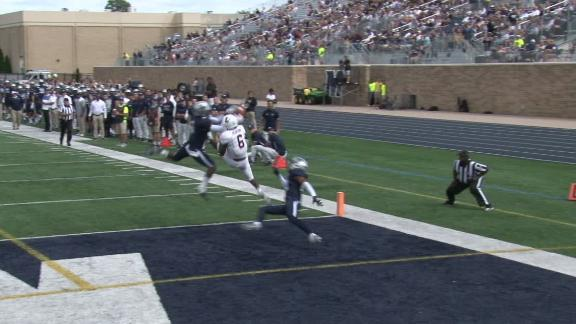 Monmouth's Budd makes incredible leaping interception