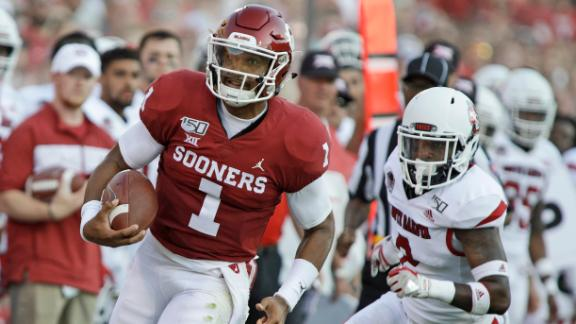 Hurts leads Sooners in rout of Coyotes
