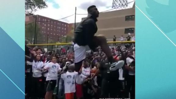 Zion flushes between the legs dunk