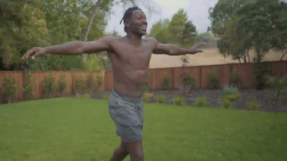 AB runs around screaming 'I'm free' after being released